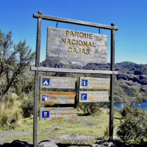 cajas nationalpark eingang visitor center schild